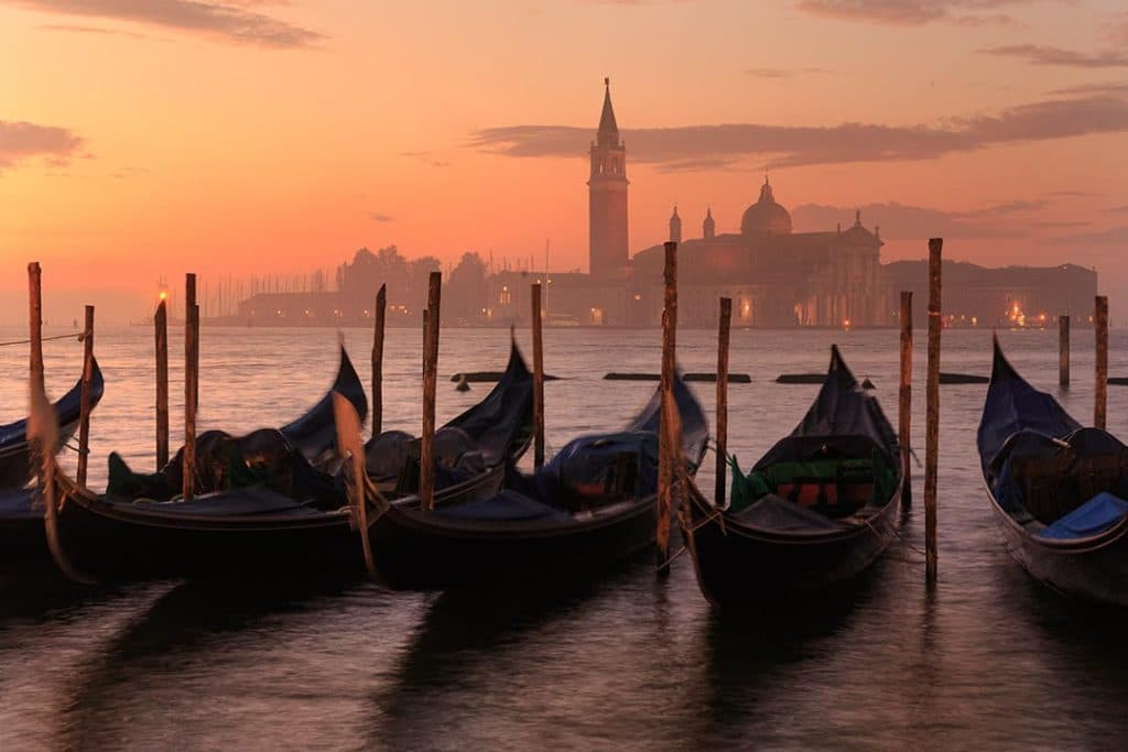 Gandolas in Venezia