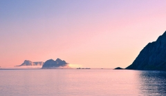 Lofoten, A, sunset sunset with orange tones