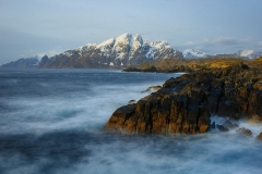Lofoten Islands, winter morning near A