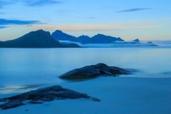 Haukland beach, blue hour