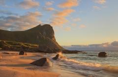 Mirland, sunset on the beach