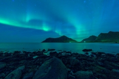 Lofoten, Aurora on The Uttakliv Beach