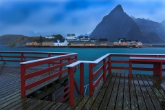 The rainy morning on Lofoten, Reine