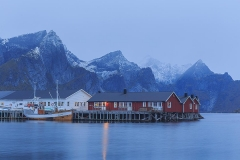 The rainy morning on Lofoten