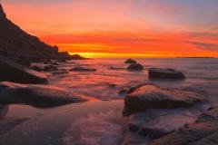 Beautiful sunset on Uttakliv