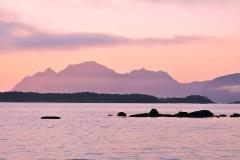 Lofoten, pink sunset