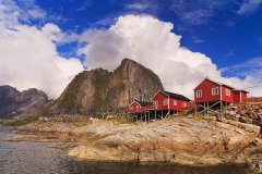 Lofoten Islands, Hamnoy in blue