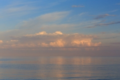 Clouds over the lake, Ladoga Lake, Russia, summer