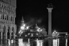 Venezia, Piazza San-Marco night view under rain