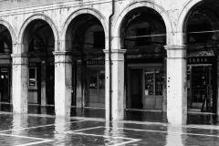 Venezia, flood in the street