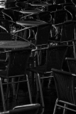 Chairs in a night cafe Venezia