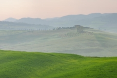 Podere Belvedere in the Val D'orcia Tuscan, sunset view