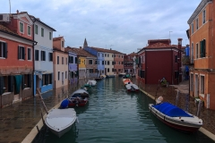 Boats on Venetian canals