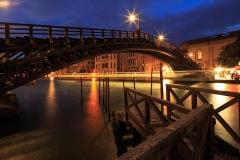 Venezia, Ponte de lAcademie in the night