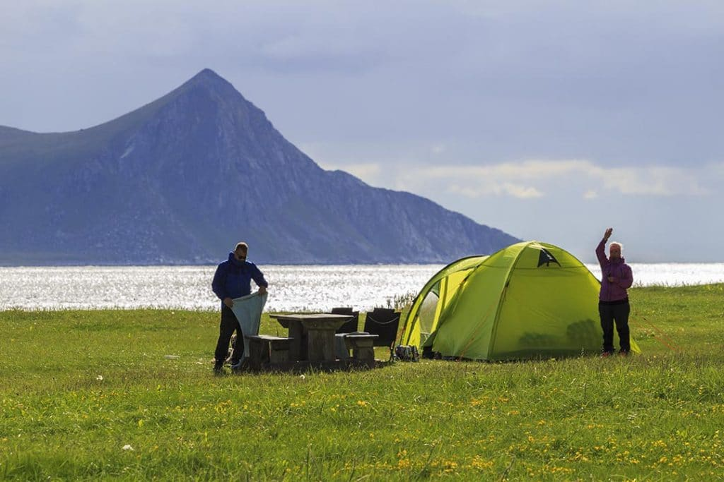 Camping on the Haukland Beach