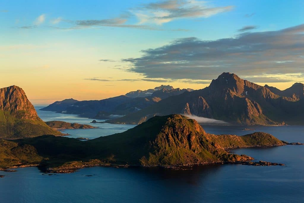 View from the mountain Mannen, Lofoten