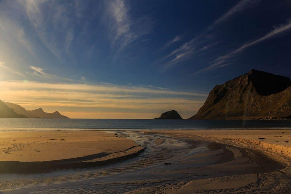 Photography workshop Vik beach, Lofoten islands, Norway