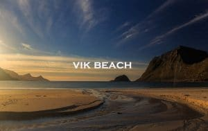 vik beach, lofoten, norway