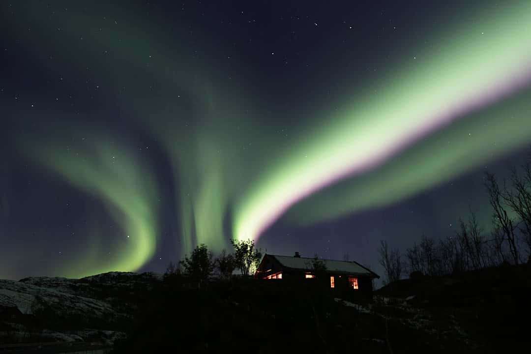 Northern Lights over Lofoten. Before