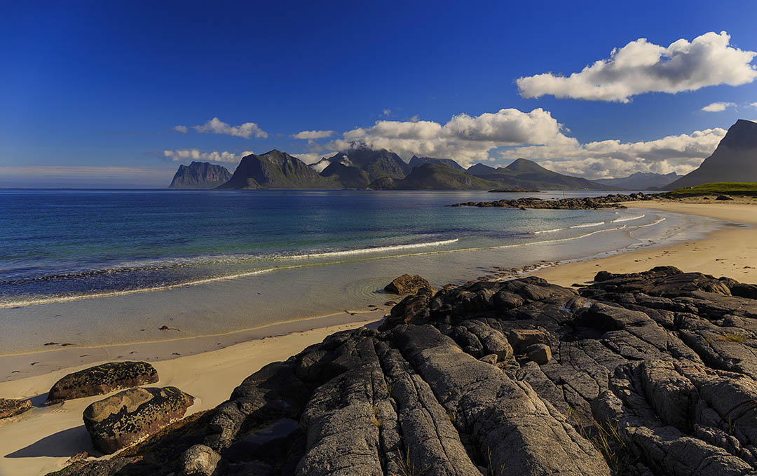 Storsandnes beach, Lofoten islands, Norway