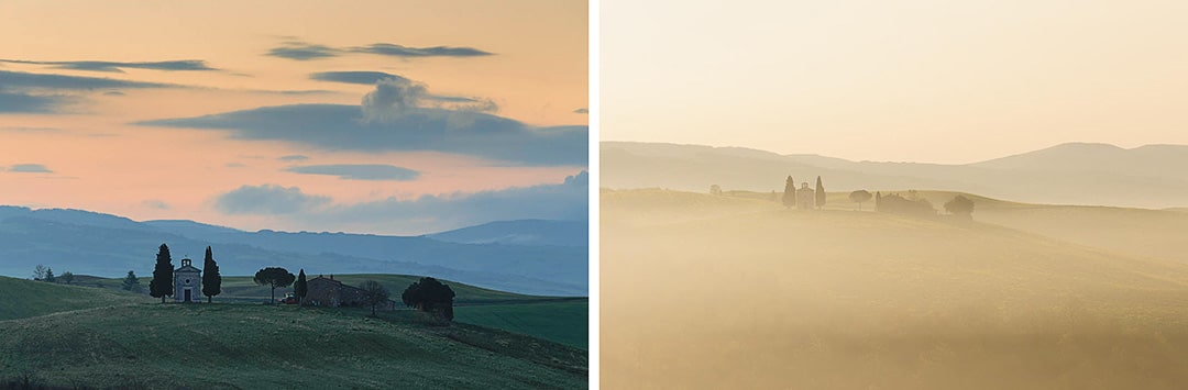 Tuscany photo tour. Cappella di Vitaleta.