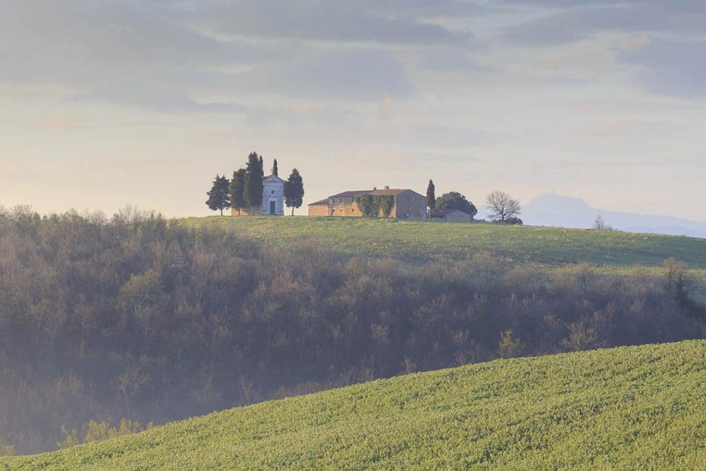 Val d'Orcia. Capella di Vitaletta