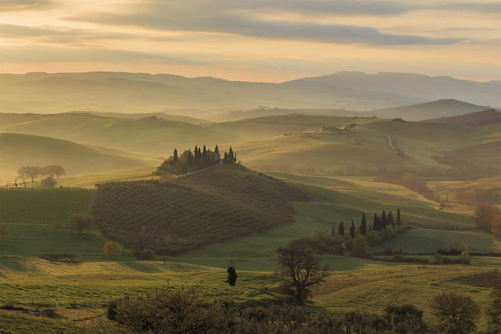 Val d'Orcia. Podere Belvedere