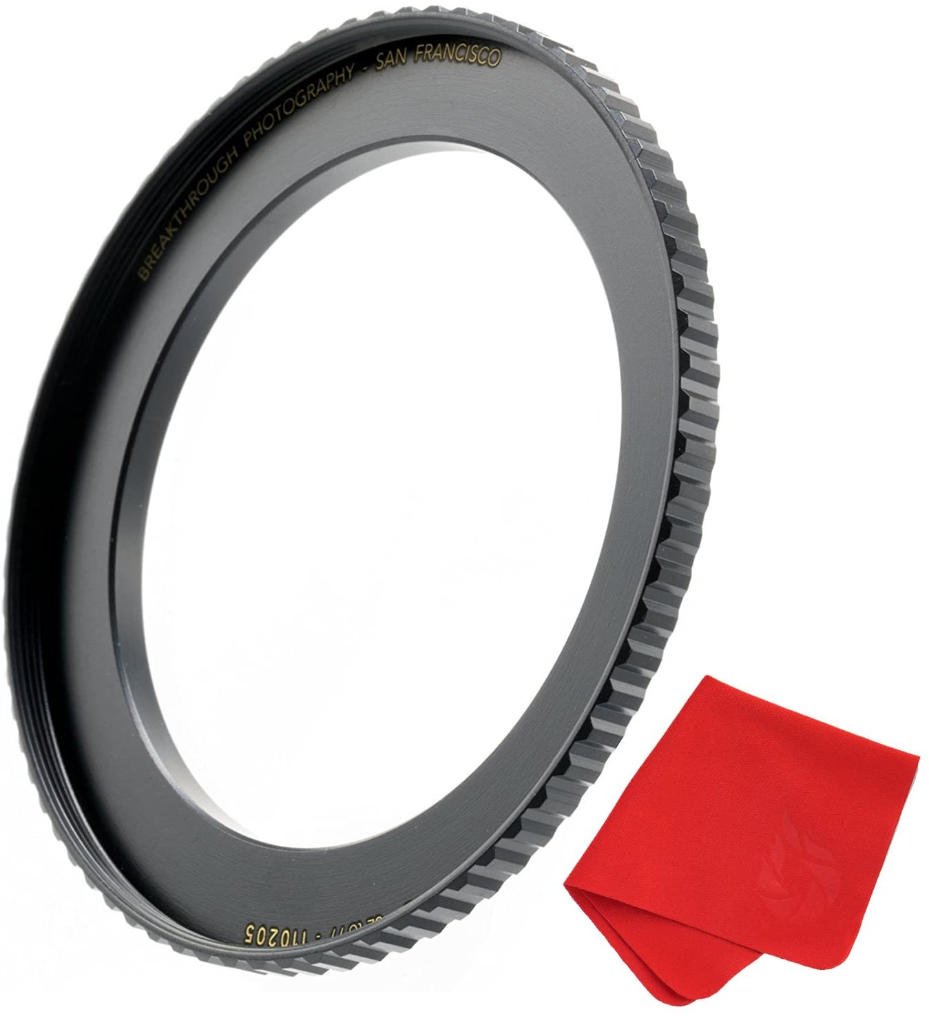 Breakthrough Photography 77mm to 82mm Step-Up Lens Adapter Ring for Filters